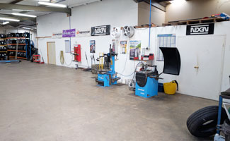 MQ Mobile Tyres Garage Interior