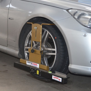 Car wheel alignment at our depot