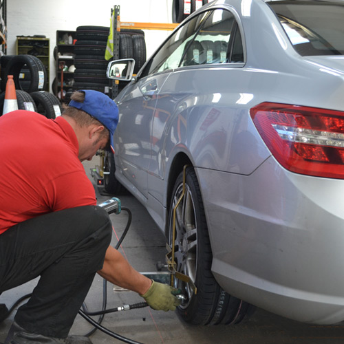 Wheel alignment services