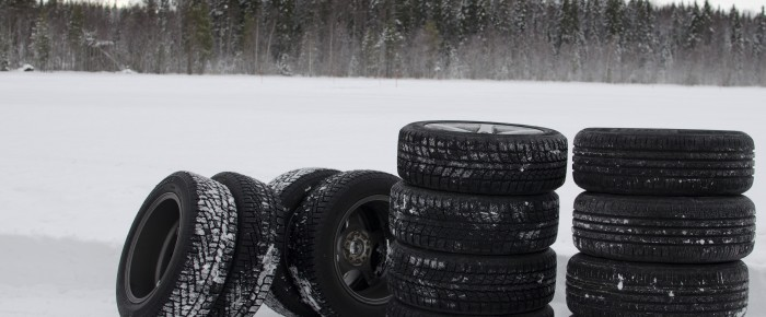 Tyres in Snowy Field